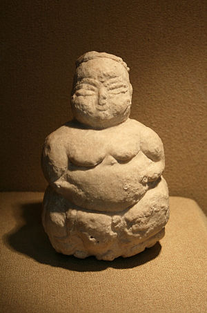English: A mother goddess statuette from Canha...