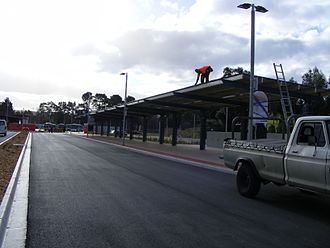 Mount Barker, South Australia - The Park 'n' Ride Facility in Mount Barker being completed