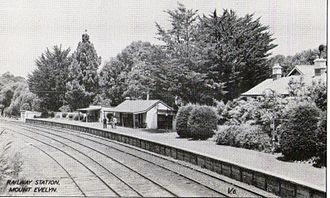Warburton railway line - Image: Mt Evelyn railway station ~1920