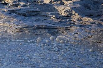 Solfatara (volcano) - Image: Mud pool in Solfatara crater