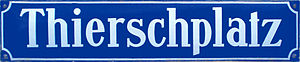 Street or road name - Street sign in Munich, Germany