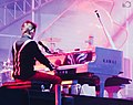 Muse 2013 Stadium Tour, London, Emirates Stadium 26th May, Matt Bellamy on Piano 1.jpg