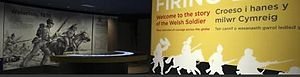 Firing Line: Cardiff Castle Museum of the Welsh Soldier - Entrance of the Firing Line Museum
