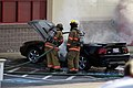 Mustang car fire at CVS on Key West Highway in North Potomac MD July 12 2012 (7575613004).jpg