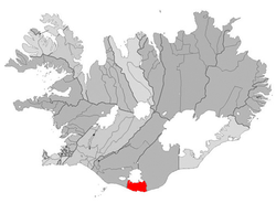 Location of the Municipality of Mýrdalshreppur