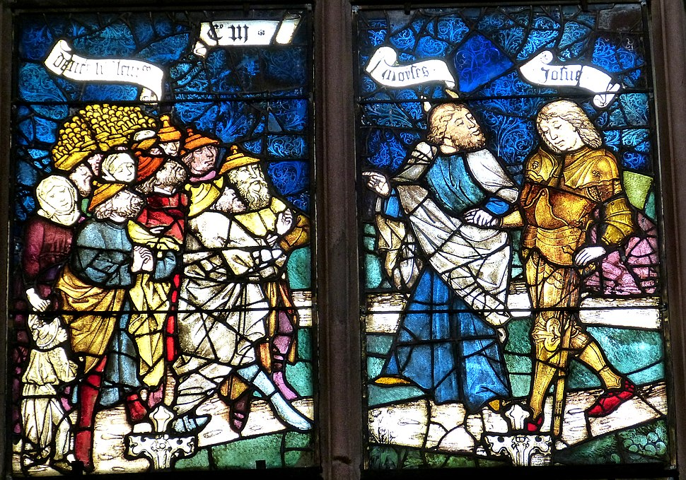 Nürnberg Lorenzkirche - Rieter-Fenster 7 Moses und Josua