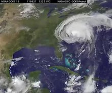 Датотека:NASA-NOAA GOES Project, Dennis Chesters - Hurricane Irene 20110828 (pd).ogv