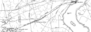 New Castle and Frenchtown Turnpike and Railroad Company - Modern map of the railroad