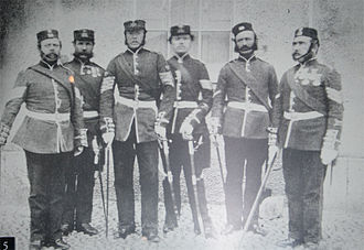 58th (Rutlandshire) Regiment of Foot - Non-commissioned officers of the 58th Regiment in New Zealand, c.1858