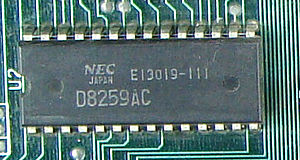 Intel 8259 - NEC D8259AC, used on the original IBM PC motherboard.