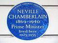 NEVILLE CHAMBERLAIN 1869-1940 Prime Minister lived here.JPG