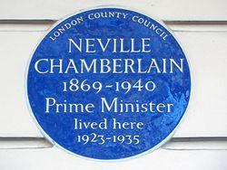 Neville chamberlain 1869 1940 prime minister lived here