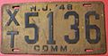NEW JERSEY 1948 -COMMERCIAL LICENSE PLATE - Flickr - woody1778a.jpg
