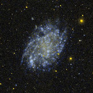 Low-surface-brightness galaxy - An image of NGC 45 , a low surface brightness spiral galaxy, by GALEX.
