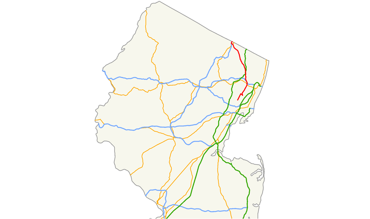 Ridgewood New Jersey Map.New Jersey Route 17 Wikipedia