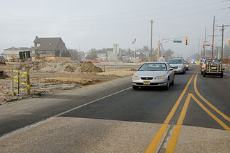 New Jersey Route 35 - Route 35 reopened at the reconstructed CR 528 intersection in 2013