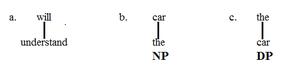 Determiner phrase - NP vs. DP 1.1