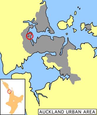 Te Atatu - Location of Te Atatu in Auckland.