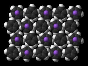 Sodium cyclopentadienide - Image: Na Cp xtal 3D SF A