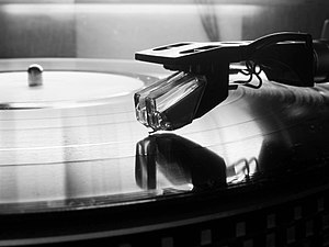 Stylus - A gramophone cartridge with stylus for use on vinyl records, a late use of the stylus in audio