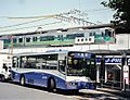 Nagoya Guideway Bus at Kozoji Station.jpg