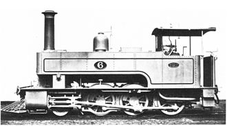 NGR Class K 2-6-0T - No. 6 with a brass-capped chimney