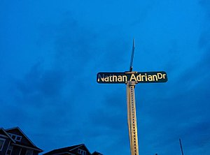 Nathan Adrian - Nathan Adrian Drive road sign in Bremerton, Washington