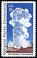 National Parks Centennial Old Faithful Yellowstone 8c 1972 issue U.S. stamp.jpg