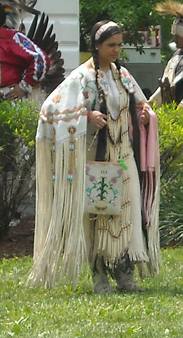 A Native American woman in traditional dress. Native American Girl.jpg