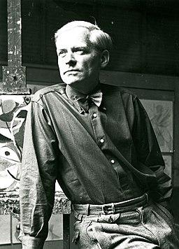 Nay in seinem Hofheimer Atelier 1948