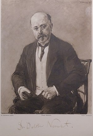Walther Nernst - Nernst 1912, portrait by Max Liebermann