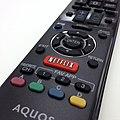 Netflix button on Sharp Aquos remote 20131106.jpg