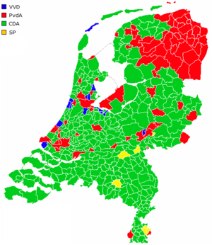 Dutch general election, 2006 - Image: Netherlands municipalities results 2006