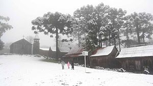 Climate of Brazil - The subtropical climate during winter, with snowfall in Caxias do Sul, South Region