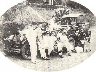 "New Friend - a film still of 1927 silent movie ""New Friend (新客)"""