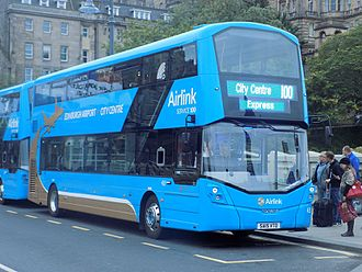 Edinburgh Airport - Airlink 100 bus on Waverley Bridge