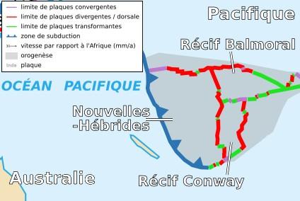 New Hebrides Plate map-fr