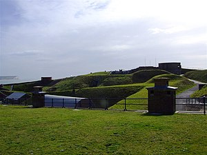 Newhaven Fort - The fort viewed from the north.