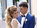 Newlyweds on Sovetskaya Street - Grodno - Belarus (27162583264).jpg