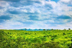 Ngong Hills - Ngong' Hills, Nairobi, Kenya as viewed from Maasai Lodge, Ongata Rongai, Kenya