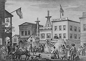 Niantic (whaling vessel) - The Niantic Hotel in 1850