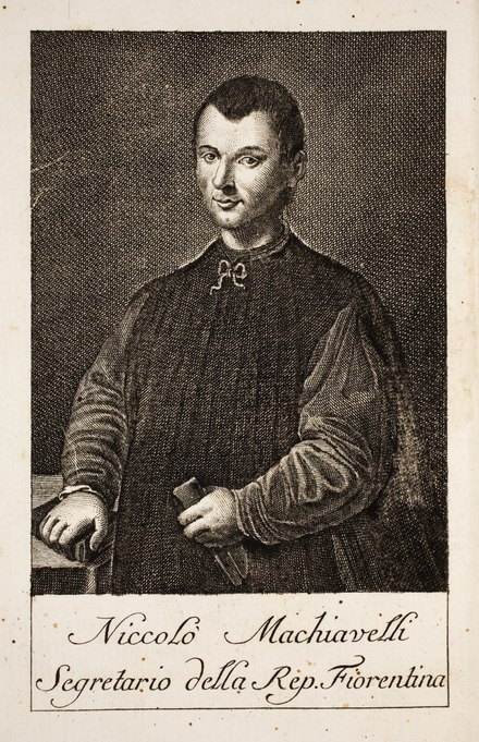Engraved portrait of Machiavelli, from the Peace Palace Library's Il Principe, published in 1769 Niccolo-Machiavelli-Amelot-de-La-Houssaie-Il-principe MG 1089.tif
