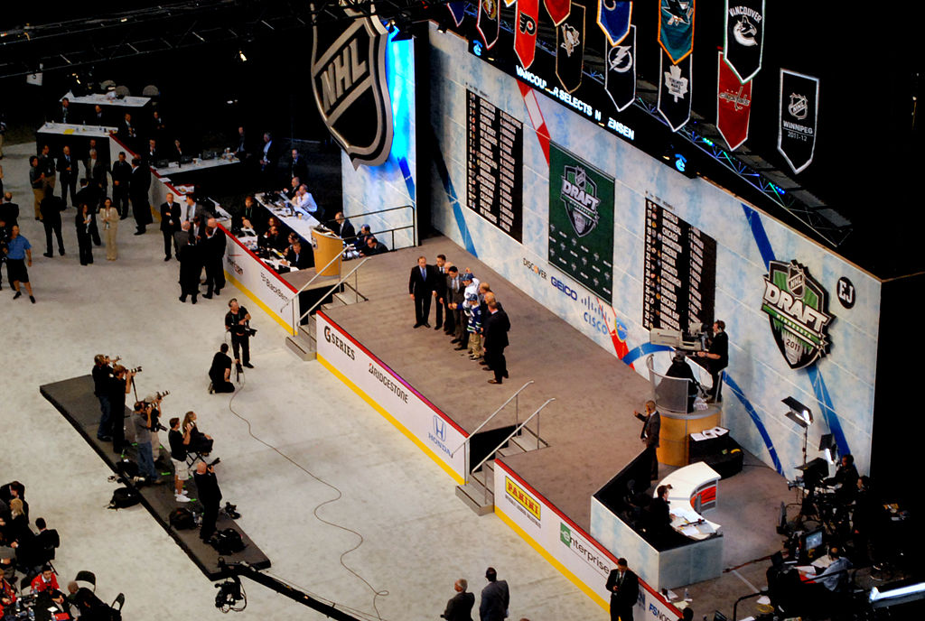 Image of the stage at the 2011 NHL Entry Draft.