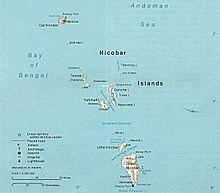 Mapo de Nikobaroj