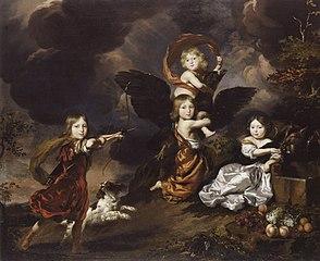 Portrait of four unknown children