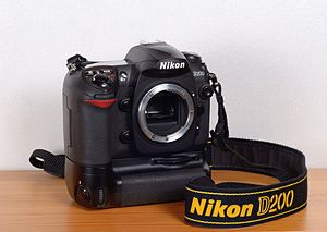 Nikon D200 - Nikon D200 with MB-D200 battery grip attached