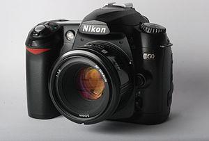 Nikon D50 - Image: Nikon D50 with Nikkor 50 f 1.8 AF