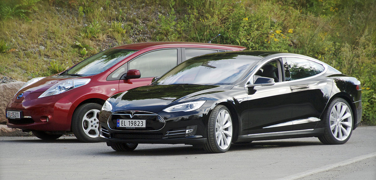 Px Nissan Leaf And Tesla Model S In Norway Cropped