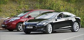 The Nissan Leaf Left And Tesla Model S Right Are World All Time Top Ing Electric Cars