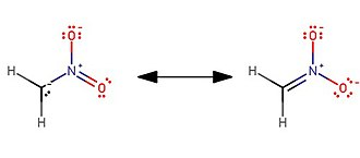 Nitromethane - The anion is resonance stabilized